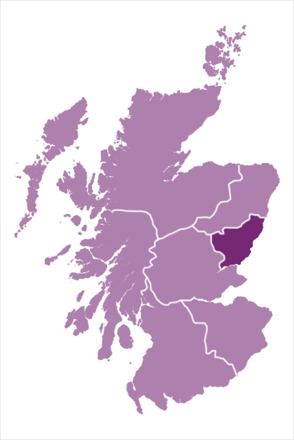 The geographical region of the Diocese of Brechin